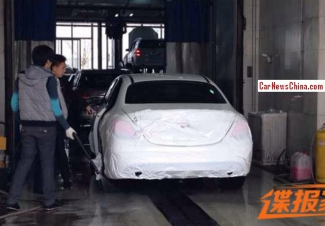 Spy Shots: Mercedes-Benz C-Class L testing in China
