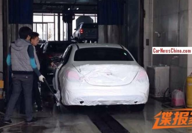 Spy Shots: Mercedes-Benz C-Class L testing in China