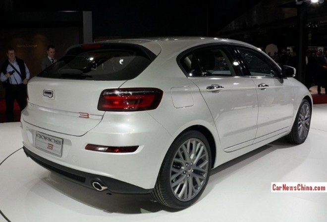 Qoros 3 Hatch debuts on the 2014 Geneva Motor Show