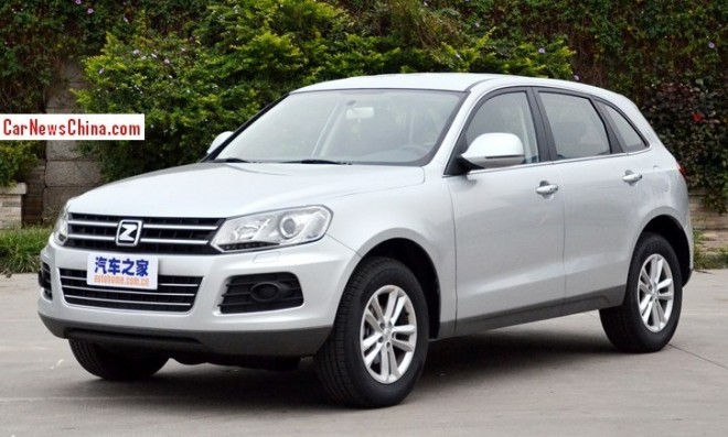Zotye T600 2.0T will debut on the 2014 Beijing Auto Show