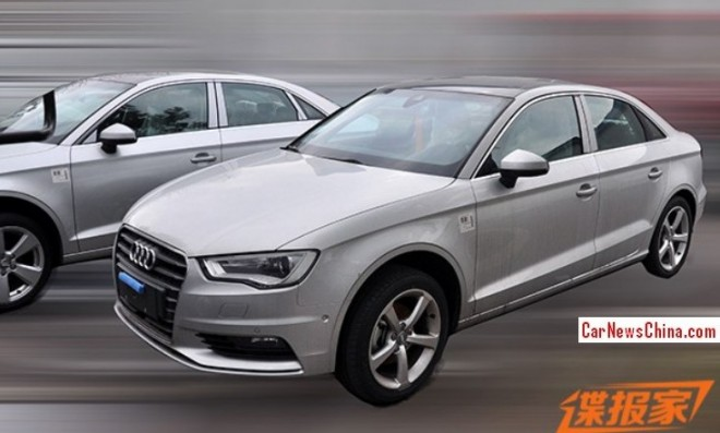 China-made Audi A3 sedan will debut on the 2014 Beijing Auto Show