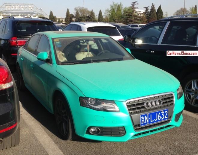 Audi A4L is matte blue green in China