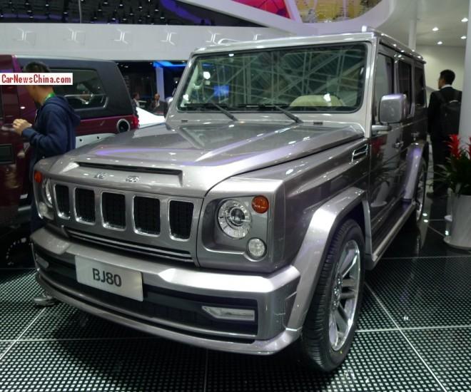 Beijing Auto BJ80 debuts on the Beijing Auto Show