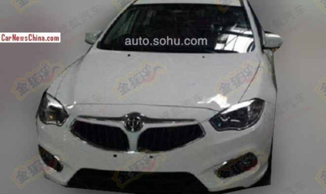 Spy Shots: facelifted Brilliance H530 is Naked in China
