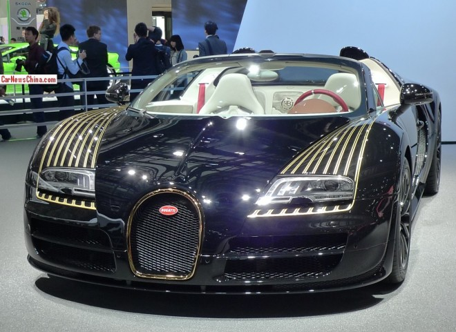 Bugatti Veyron Grand Sport Vitesse Black Bess debuts on the Beijing Auto Show