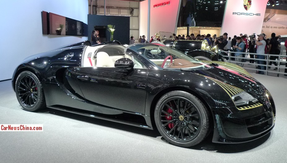 bugatti veyron grand sport vitesse black bess debuts on the beijing