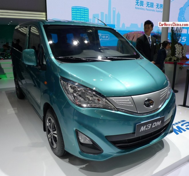 BYD M3 DM mini MPV Concept debuts on the Beijing Auto Show