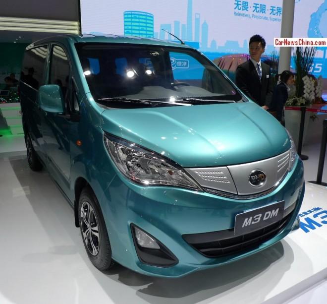 BYD M3 DM mini MPV Concept debuts on the Beijing Auto Show