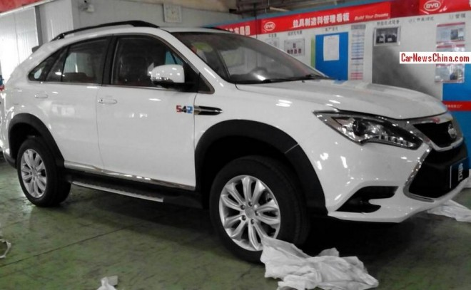 This is the BYD Tang hybrid SUV for the Beijing Auto Show