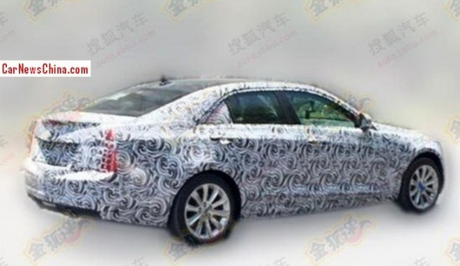 Spy Shots: Cadillac ATS-L testing in China
