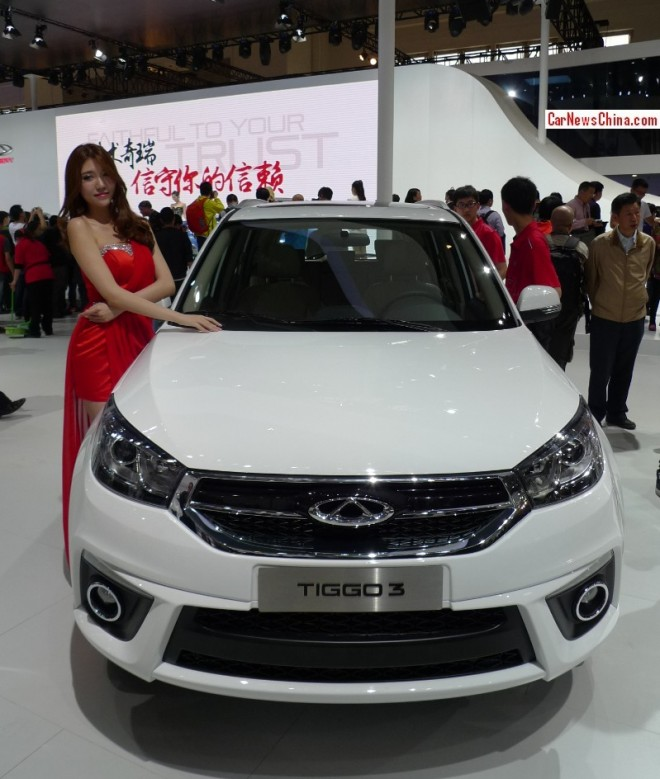 Facelifted Chery Tiggo 3 debuts on the Beijing Auto Show