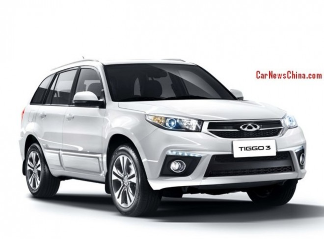 Official Pictures of the facelifted Chery Tiggo 3