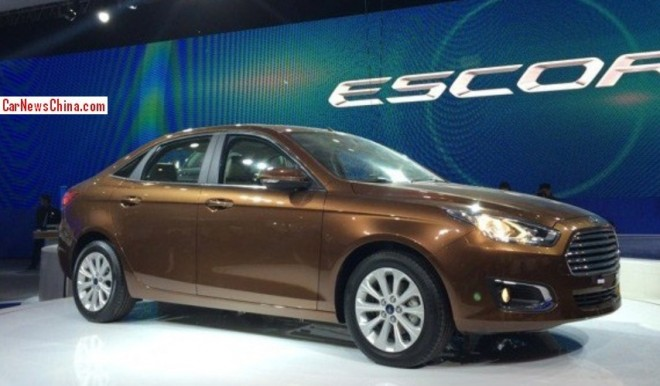 This is the new Ford Escort for the China car market