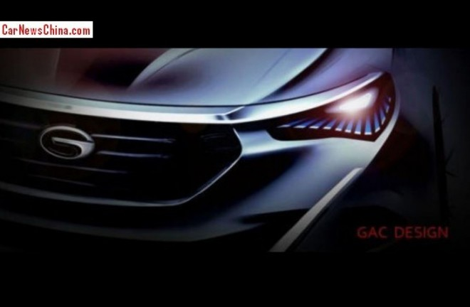 Guangzhou Auto GA6 Concept teased for the 2014 Beijing Auto Show