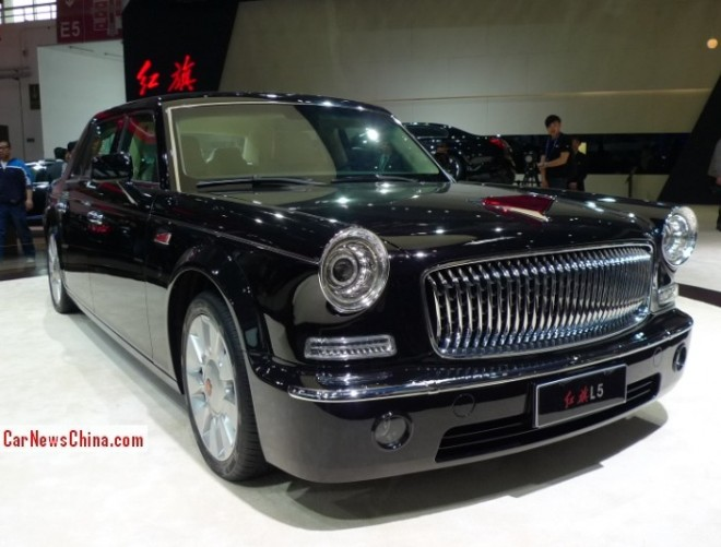 Hongqi L5 limousine debuts on the Beijing Auto Show