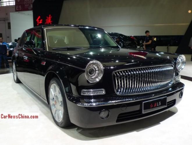 Hongqi L5 limousine debuts on the Beijing Auto Show