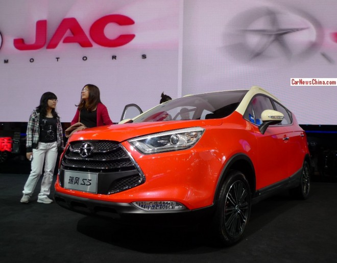 JAC Refine S3 debuts on the Beijing Auto Show