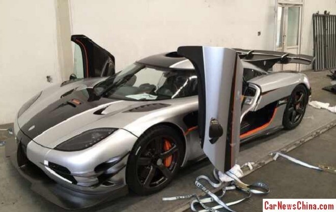 Koenigsegg Agera One:1 arrives in China for the Beijing Auto Show