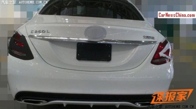 Spy Shots: Mercedes-Benz C Class L is almost Ready for the Beijing Auto Show