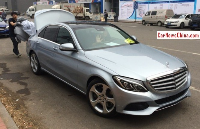 Mercedes benz c class l arrives at the beijing auto show for Mercedes benz china
