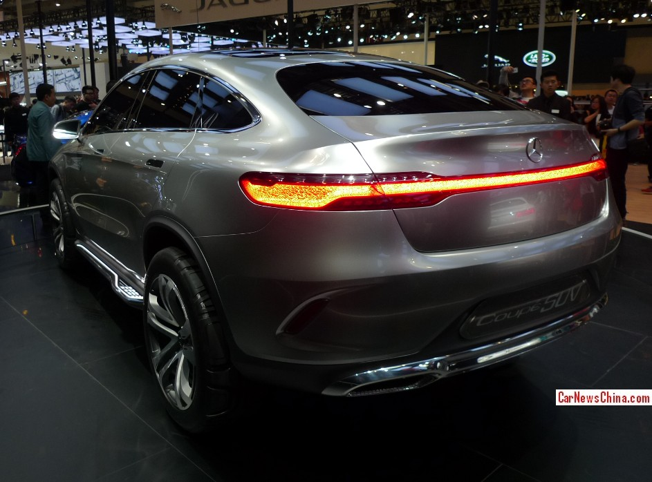 Mercedes benz coupe suv debuts on the beijing auto show for Mercedes benz suv coupe