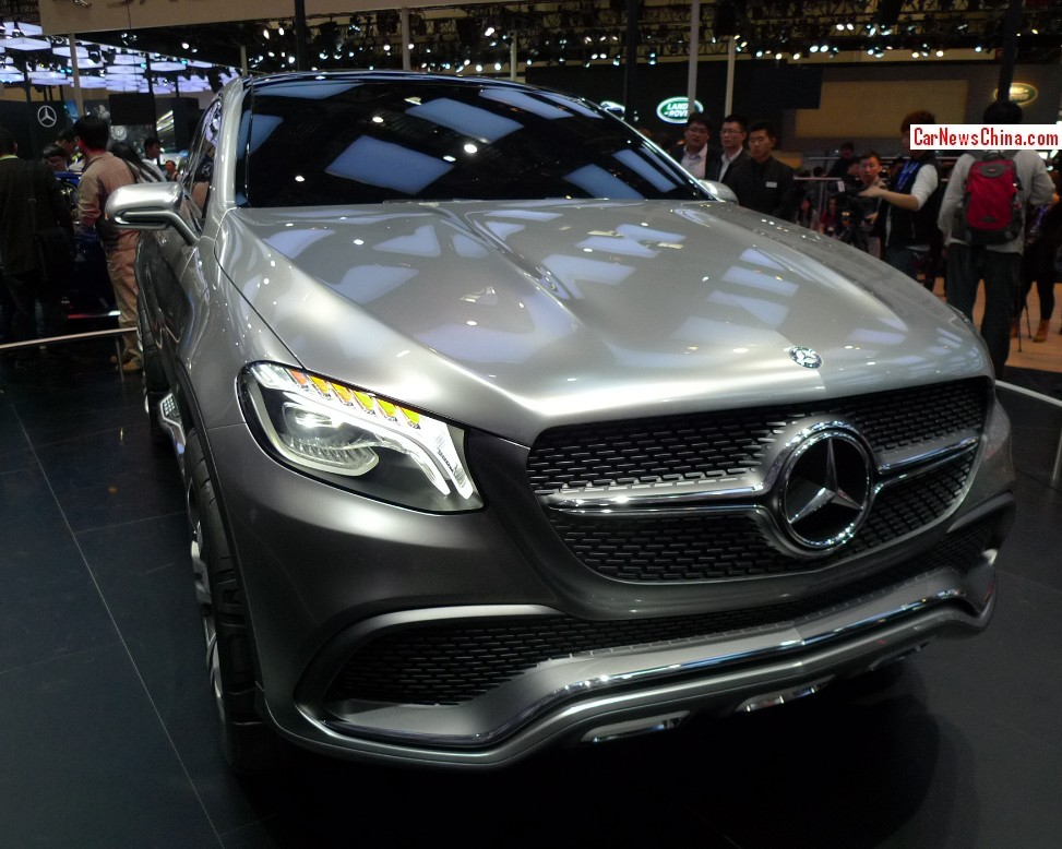 Mercedes benz coupe suv debuts on the beijing auto show for Mercedes benz china