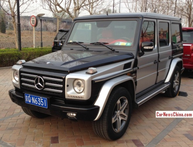 Mercedes-Benz G55 AMG is silver & black in China