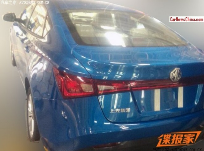 Spy Shots: MG5 Four-door Coupe testing in China again