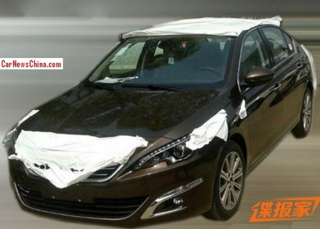 Spy Shots: new Peugeot 408 sedan is Ready for the Beijing Auto Show