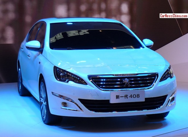 Peugeot 408 sedan debuts on the Beijing Auto Show