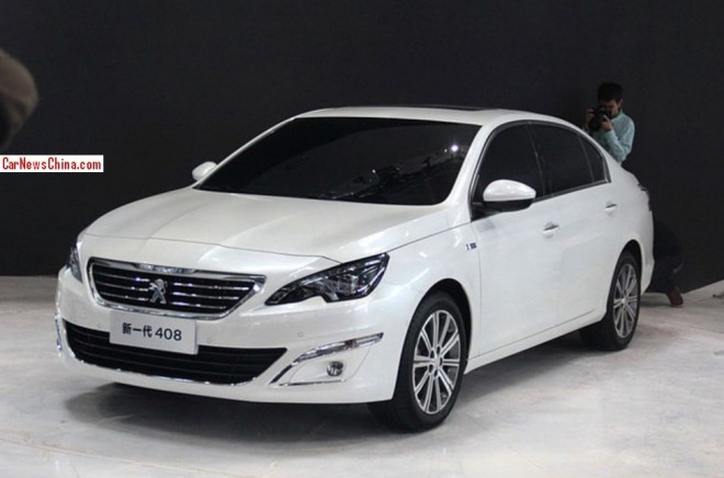 Peugeot 408 sedan arrives at the 2014 Beijing Auto Show