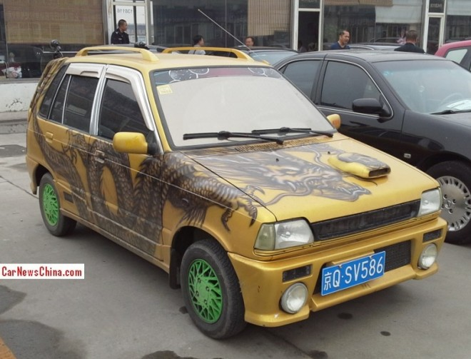 Suzuki Alto Happy Prince is a yellow dragon in China