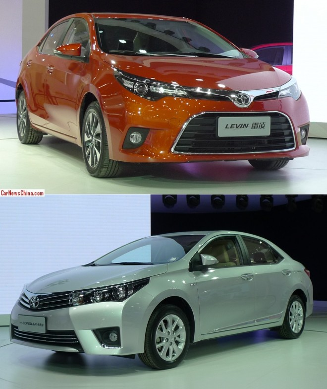Toyota Levin & Toyota Corolla debut on the 2014 Beijing Auto Show