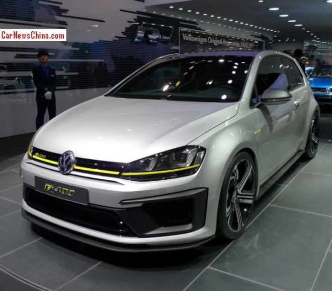 Volkswagen Golf R400 Concept debuts on the Beijing Auto Show