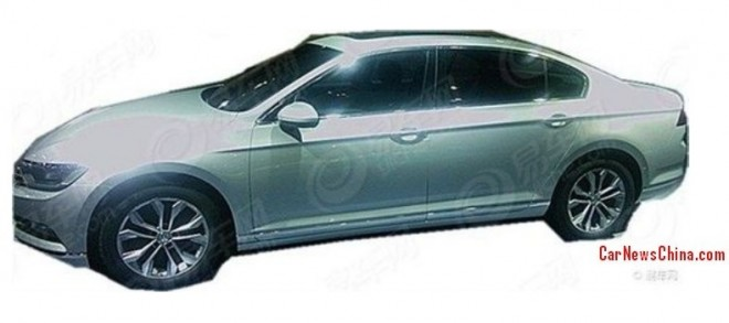 Spy Shots: 2015 Volkswagen Passat B8 is Naked in China