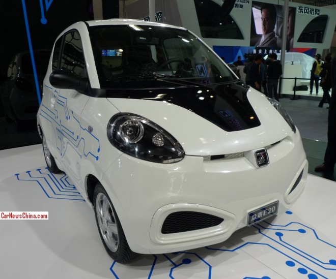 Zotye E20 EV debuts on the Beijing Auto Show