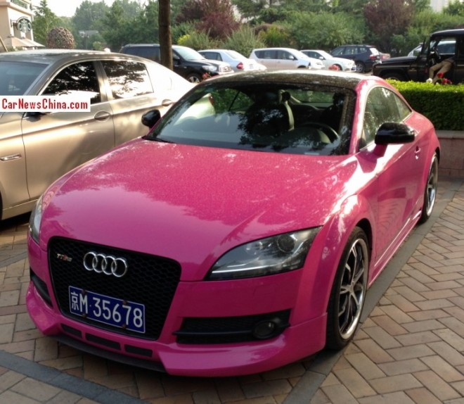 Audi TT RS is Pink in China