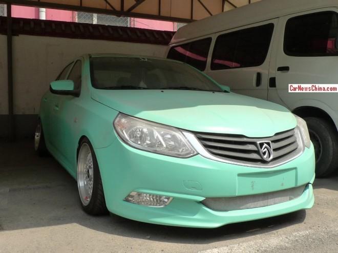 Baojun 630 is a muddy mint green low rider in China