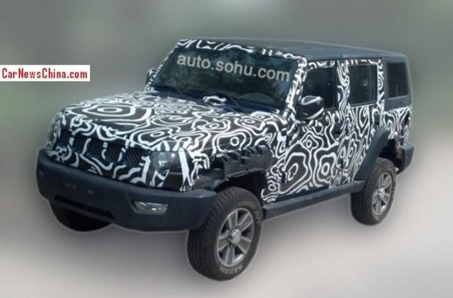 Spy Shots: Beijing Auto B70 testing in China