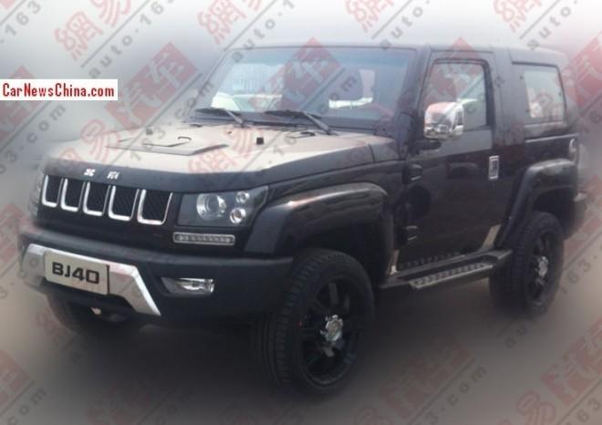 Spy Shots: Beijing Auto BJ40 Dark Knight is Ready for the China car market