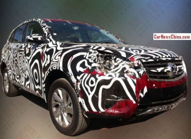 Spy Shots: Beijing Auto C51X SUV is testing in China again