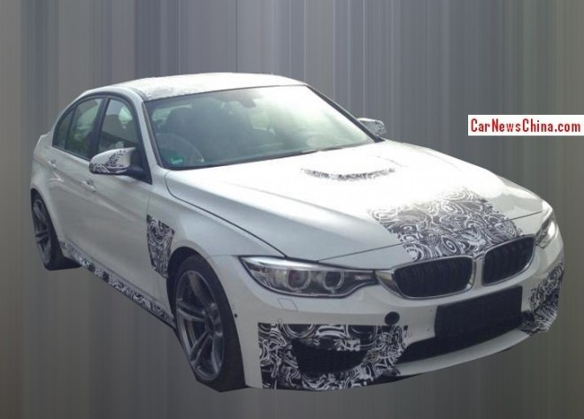 Spy shots: BMW M3 testing in China