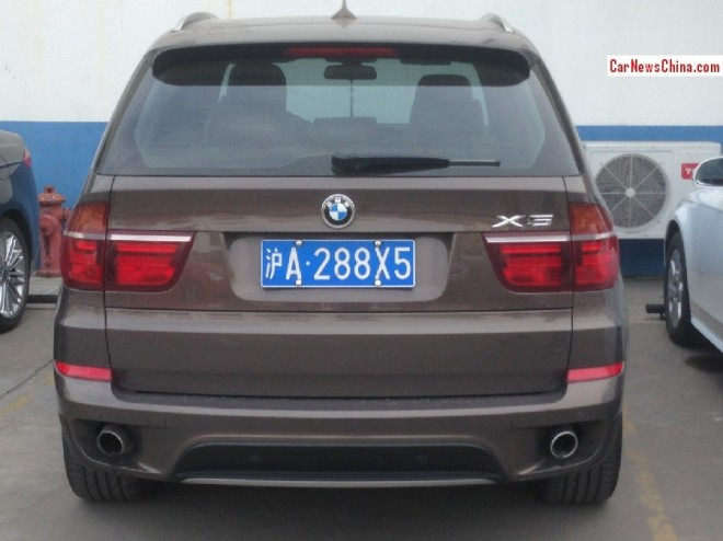 BMW X5 has a License in China, times 3 + X6