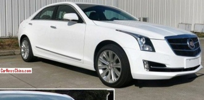 Spy Shots: Cadillac ATS L is Naked in China
