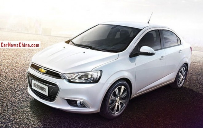 Official photos of the facelifted Chevrolet Aveo for China