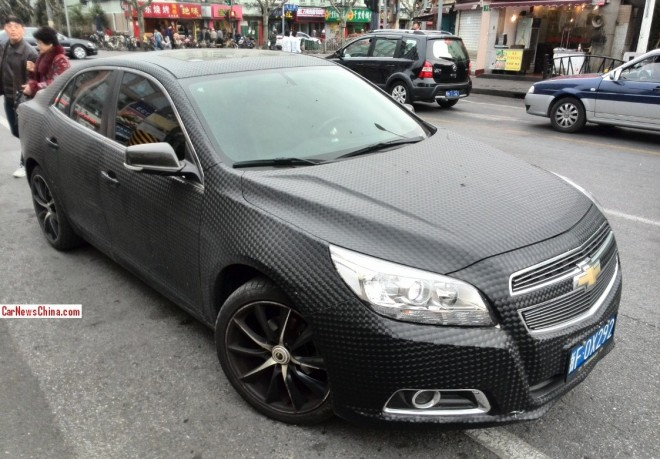 Chevrolet Malibu is carbon fiber bubble wrapped in China