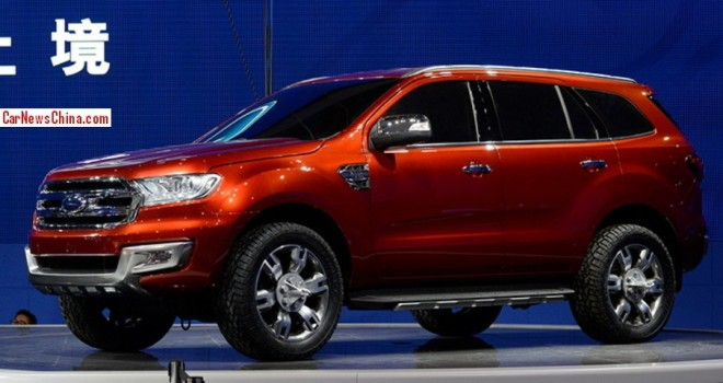 Production of the Ford Everest in China to start in 2015