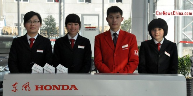 Honda China sales down 3.6% in April