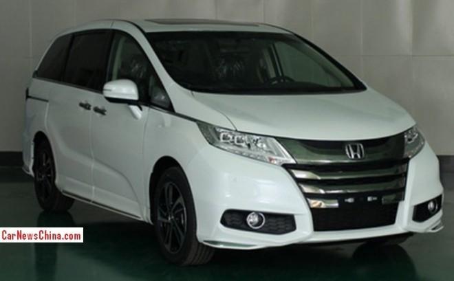 Spy Shots: new Honda Odyssey is Ready for the China car market