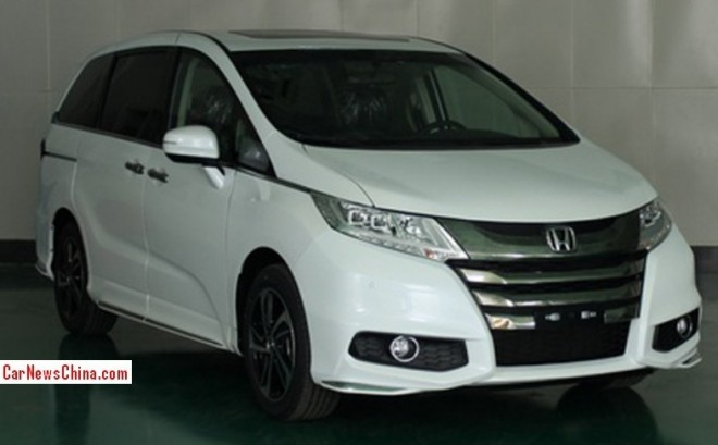 Spy Shots: new Honda Odyssey is Ready for the China car market
